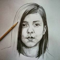 Daniela Andrade portrait. #danielaandrade #drawing #portrait
