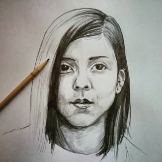 Daniela Andrade portrait. #danielaandrade #drawing #portrait