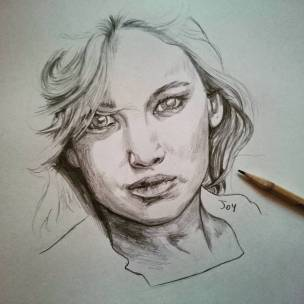 Jennifer Lawrence a matita #jenniferlawrence #joy #portrait #drawing #pencil