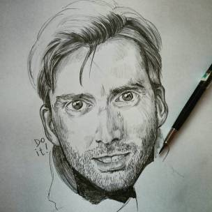 Serie tv e matite #davidtennant #jessicajones #killgrave #portrait #pencil #drawing
