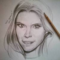 #katemara #pencil #portrait #fantastic4 #houseofcards