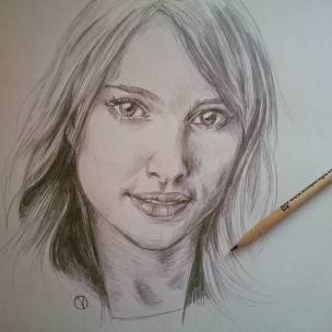 Sempre la mia preferita #natalieportman #drawing #portrait #pencil #starwars #thor