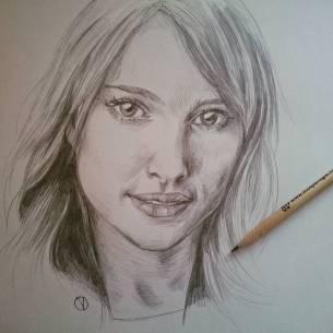 Sempre la mia preferita #natalieportman #drawing #portrait #pencil #starwars #thor
