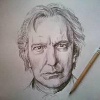 Omaggio a Rickman. #alanrickman #portrait #pencil #tribute #piton #nottingham
