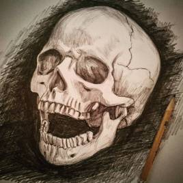 Oggi mi sento positivo! #skull #pencil #portrait #death