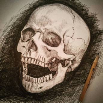 Oggi mi sento positivo! #skull #pencil #portrait #death