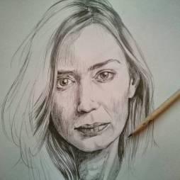 Che donna! #emilyblunt #portrait #pencil #sicario #edgeoftomorrow