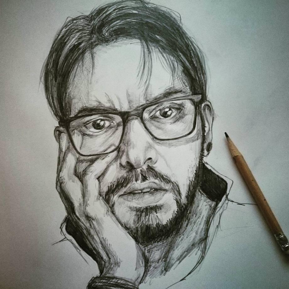 La matita sta finendo. #autoritratto #portrait #pencil #pencildrawing #autoportrait #me