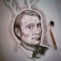 Mi è venuta un po di fame... #hannibal #madsmikkelsen #mikkelsen #pencildrawing #pencil #portrait