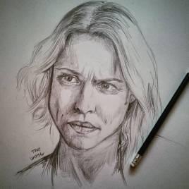 Non bisogna essere fighe per essere belle. #rachelmcadams #pencil #portrait #pencildrawing #truedetective #truedetectiveseason2 #southpaw
