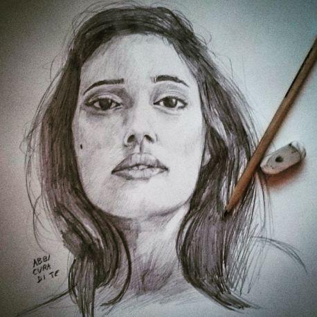Abbi cura di te. #levante #portrait #pencildrawing #pencil #ritratto #matita