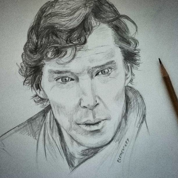 Elementary my dear Watson... #benedictcumberbatch #portrait #pencildrawing #pencil #sherlock