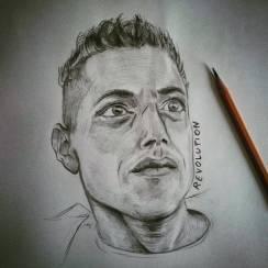 Revolution Elliot #ramimalek #mrrobot #pencil #portrait #pencildrawing #revolution #fsociety