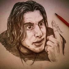 Lo zingaro. #drawing #pencil #lucamarinelli #lochiamavanojeegrobot #portrait