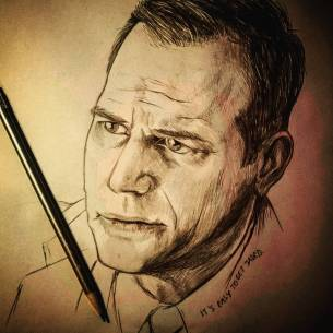 It's easy to get jaded. It's easy to get lazy. It's easy to get too self-centric. It has nothing to do with that. #billpaxton #portrait #pencilportrait #pencil