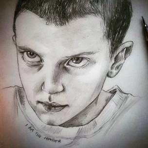 I am the monster! #eleven #elevenstrangerthings #strangerthings #portrait #pencil