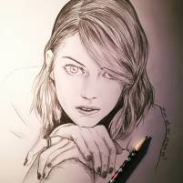 What are you gonna do? #emmastone #portrait #pencildrawing #lalaland #pencil