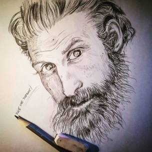 The best is Tormund #gameofthrones #tormund #kristoferhivju #portrait #pencildrawing #pencil #iltronodispade