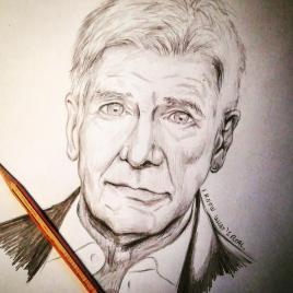 I know what's real! Harrison Ford portrait #harrisonford #bladerunner #bladerunner2049 #pencil #pencildrawing #pencilportrait