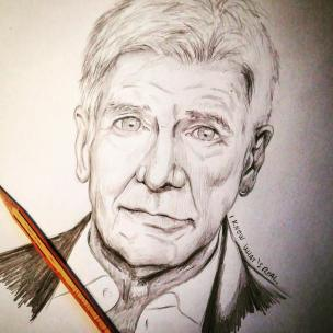 I know what's real! Harrison Ford portrait #harrisonford #bladerunner #bladerunner2049 #pencil #pencildrawing #pencilportrait